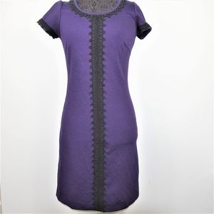 Boden Embroidered Sheath Dress Short Sleeve